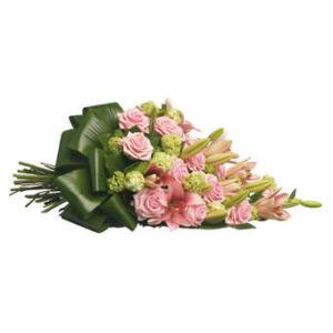 rouwboeket roze speciaal