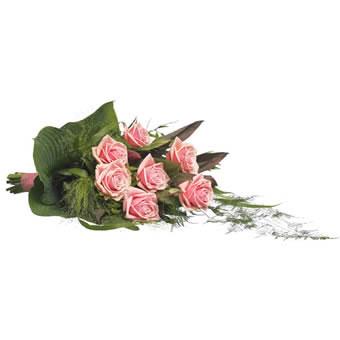 roze rouwboeket